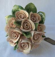 Capodimonte Porcelain Italy Original Flower Centerpiece ROSES Mother's Day Gift