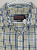 Vineyard Vines Mens Shirt Plaid LS Yellow Blue XL