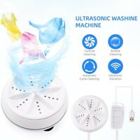 Mini USB Washing Machine Clothes Portable Rotating Ultrasonic Turbine Washer