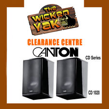 CANTON CD Series100 W Compact Speakers+Mounts CD1020 BLACK-FREE SHIPPING- NEW