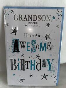 Grandson Birthday Card / Older Grandson Birthday Cards - 6 Styles