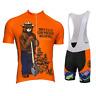 Smokey Bear Prevent Wildfires Retro Cycling Jersey Bib Short Kit