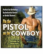 Pin The Pistol On Cowboy Stud Bachelorette Party Game Sexy Girl Night Gag Gift