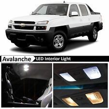 White Interior LED Lights Replacement Package Kit Fit 2002-2006 Chevy Avalanche