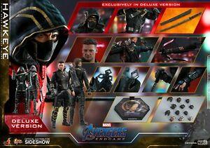 Hot Toys Marvel Avengers Endgame Hawkeye Ronin Deluxe Version 1/6 Figure In Hand