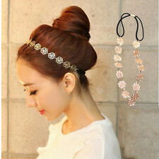 Women Accessories Hollow Rose Flower Elastic Hair Band Headband SUMMER GIFT