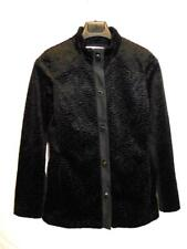 Cabi S NWT Black Turn Key Topper Coat Faux Fur Fleece Jacket Carol Anderson 907