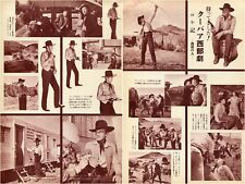 GARY COOPER Man of the West 1958 Vintage Japan Picture Clippings 2-Pages #JI11
