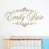 Custom Personalised Name Kids Wall Art StickersArt Nursery Vinyl Decals Decor AU