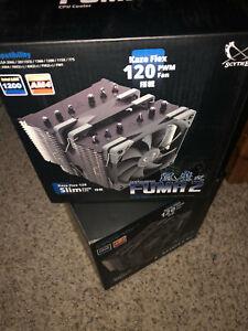 Scythe Fuma 2 CPU Air Cooler. Intel LGA1151, AMD AM4/Ryzen, Dual 120mm - New