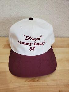 SLINGIN SAMMY BAUGH SIGNED AUTOGRAPHED VINTAGE OTTO CAP HAT WASHINGTON REDSKINS