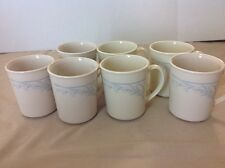 MUGS CORELLE BLUE LILY Tea Cups Set of 7  Corning Ware