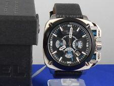 Diesel Men's Stainless Steel Black Leather BAMF Chronogragh Watch DZ7345 $275