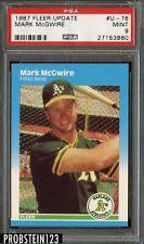 1987 Fleer Update Mark McGwire RC PSA 9 Mint Rookie