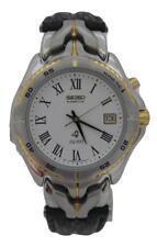 Seiko KINETIC, retro watch, 5M42, leather bracelet, SKH254