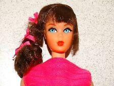 Barbie:  VINTAGE Brunette SIDE PONYTAIL TALKING BARBIE Doll w/ORIGINAL HAIR SET!