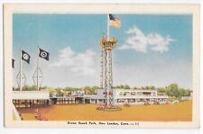 Ocean Beach Park New London Conn Connecticut CT Vintage Linen Postcard