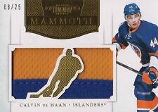 11-12 Dominion MAMMOTH xx/25 Made! Calvin De HAAN #29 - Islanders RC