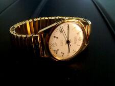 Masonic Gold Plated 17 Jewel Incabloc Movement Mechanical WristWatch by Jason