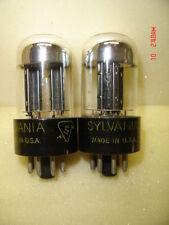 2 Pcs Sylvania Black Plate Chrome dome 6SN7GTB Audio / Radio Vacuum Tubes Tested