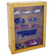 COLLECTION - Wall Display Cabinet with 4 Glass Shelves - Natural 3336OC