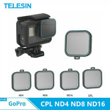 TELESIN For Gopro Hero 7 6 5 CPL ND4 ND8 ND16 Camera Lens Filter Protector Set