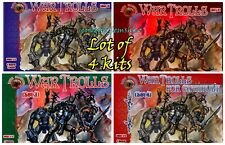 Alliance Bundle Lot of 4 Kits Full Set War Trolls and Catapult Plastic Kit 1/72
