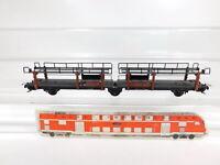 CG28-0,5# Trix Express H0/DC 3463 ? Doppel-Autotransportwagen 631445/Laes-55 DB