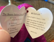 "TY BEANIE BABIES 1999 "" MILLENIUM "" BEAR WITH ERRORS (RARE)"