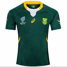 HOT SOUTH AFRICA RUGBY WORLD CUP HOME SHIRT 2019 RWC ADULT JERSEY