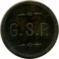 G. S. P. Perugian Club Italian Society Keystone, Pennsylvania PA Trade Token