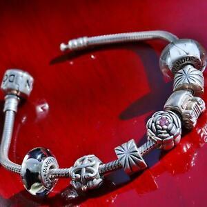 Pandora European Fine Charm Bracelet With Charms Bracelets For Sale Ebay
