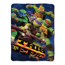 """New TMNT This is Epic Classic Super Soft Plush Throw Blanket 46""""x60''"""