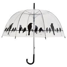 Esschert Design TP166 Regenschirm mit Vogelmotiv transparent, 83 x 82 cm