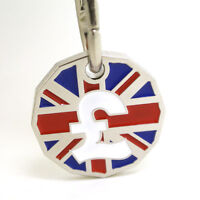 NEW £1 COIN TOKEN SHOPPING TROLLEY KEYRING LOCKER POUND TROLLIES KEY CHAIN
