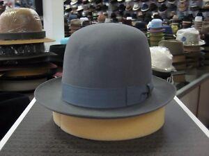 BORSALINO GREY OPEN CROWN FUR FELT DRESS HAT (PLEASE READ DESCRIPTN ABOUT SIZE)