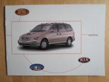 KIA SEDONA Range 2001 2002 UK Mkt Sales Brochure