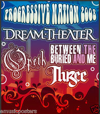 """DREAM THEATER /OPETH /BETWEEN THE BURIED """"PROGRESSIVE NATION TOUR""""CONCERT POSTER"""