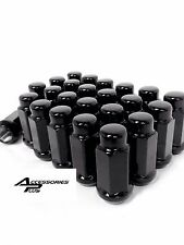 24 Pc 2015-2017 FORD F-150 BLACK BULGE LUG NUTS 14mm x 1.50 # AP-1909LBK