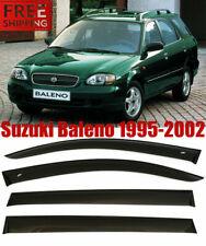 For Suzuki Baleno Sed+Wagon 95-02 Window Black Visor Rain Sun Guard Deflectors