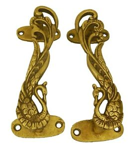 Peacock Door Handle Antique Vintage Style Brass Handcrafted Pull Knob Home Decor