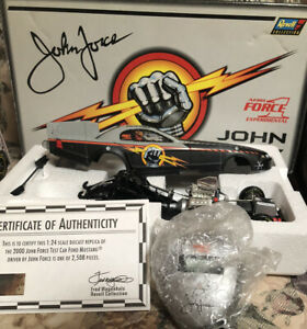 """JOHN FORCE """"AERO FORCE 1"""" 1/24 NHRA FORD MUSTANG """"TEST"""" FUEL FUNNY CAR DIE CAST"""