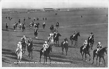POSTCARD    SPORT  HORSE RACING  NEWMARKET   Runners on the way to the post  RP