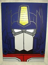 Canvas Painting Transformers Optimus Prime Blue Face Art 16x12 inch Acrylic