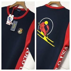 ⭐ mens Polo Ralph Lauren Ski 92 USA cookie crew Sweater Jumper sweatshirt XXL