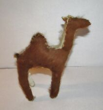 Stuffed Camel Figure Made w/Real Skin & Fur Doll Toy Christmas Nativity 8""