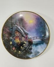 "Thomas Kinkade's Enchanted Cottages ""Falbrooke Cottage"" Knowles Bradex Plate"