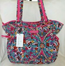 Vera Bradley 187056 Womens Iconic Glenna Cotton Satchel in Kaleidoscope