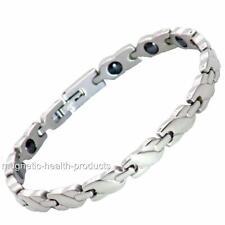 Damen magnetisch Heilendes Armband Edelstahl silbern Arthritis Schmerzlinderung