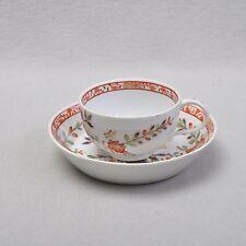 Meissen Tischchenmuster alte Tasse mit Untertasse um 1817, Marcolini